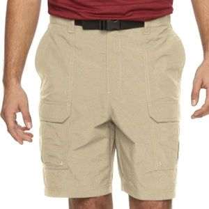 Croft & Barrow Synhetic Belted Cargo Shorts